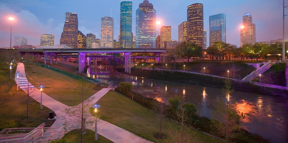 Buffalo Bayou in Houston for Photoshoot