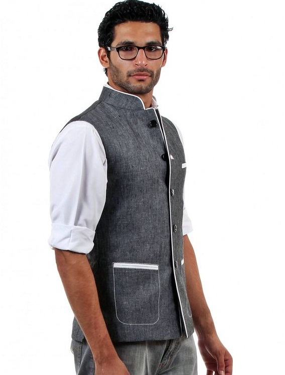 Nehru Jacket with Semi Formal Western Wear