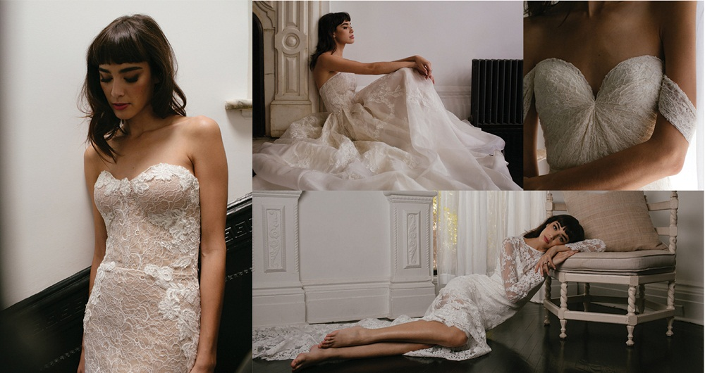 bride looks bored in wedding dress