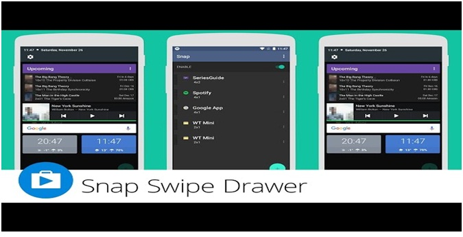 Snap Swipe Drawer