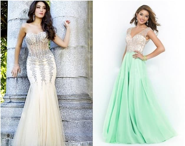 Prom dresses for pear shaped body