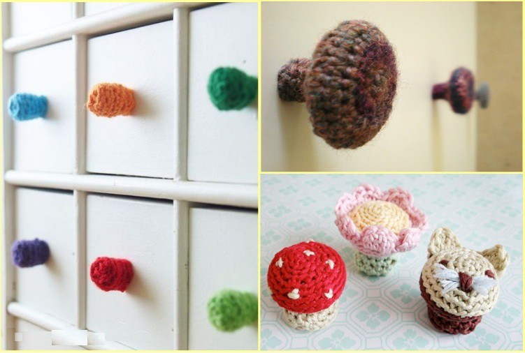 Crocheted drawer handles