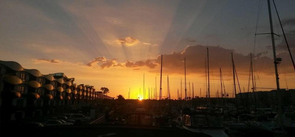 Sunset at Marina del