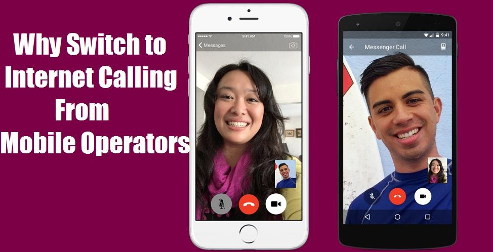 Internet calling through apps