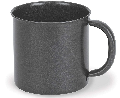 enamel camping mug stansport black granite