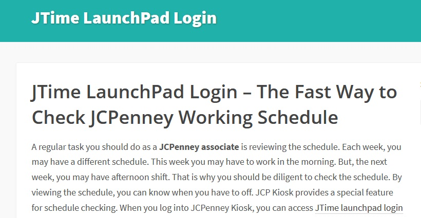 JTime-LaunchPad-Login
